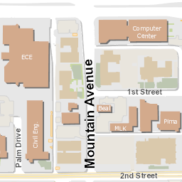 image about University of Arizona Campus Map Printable named Campus Map College of Arizona